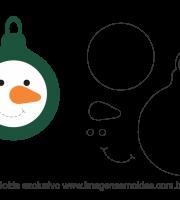 Molde Natal - Bola 2 - Moldes de EVA - Feltro e Artesanato