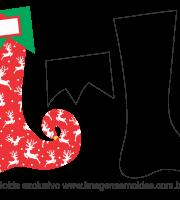 Molde Natal - Bota Duende - Moldes de EVA - Feltro e Artesanato