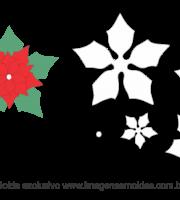 Molde Natal - Flor 2 - Moldes de Feltro - EVA e Artesanato