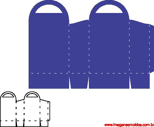 box mold, Kastenform, molde de caja, caixa de corte sacolinha