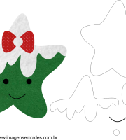 Molde de Natal Estrela 04