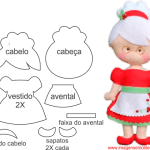 Molde de Natal Para E.V.A. Feltro e Artesanato – Mamãe Noel – 1