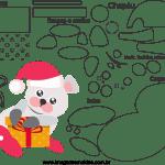 Molde de Natal para Feltro, Eva e Artesanato-Bichinho 1