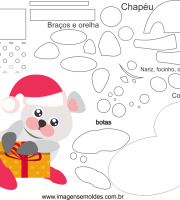 Molde de Natal para Eva, Feltro e Artesanato