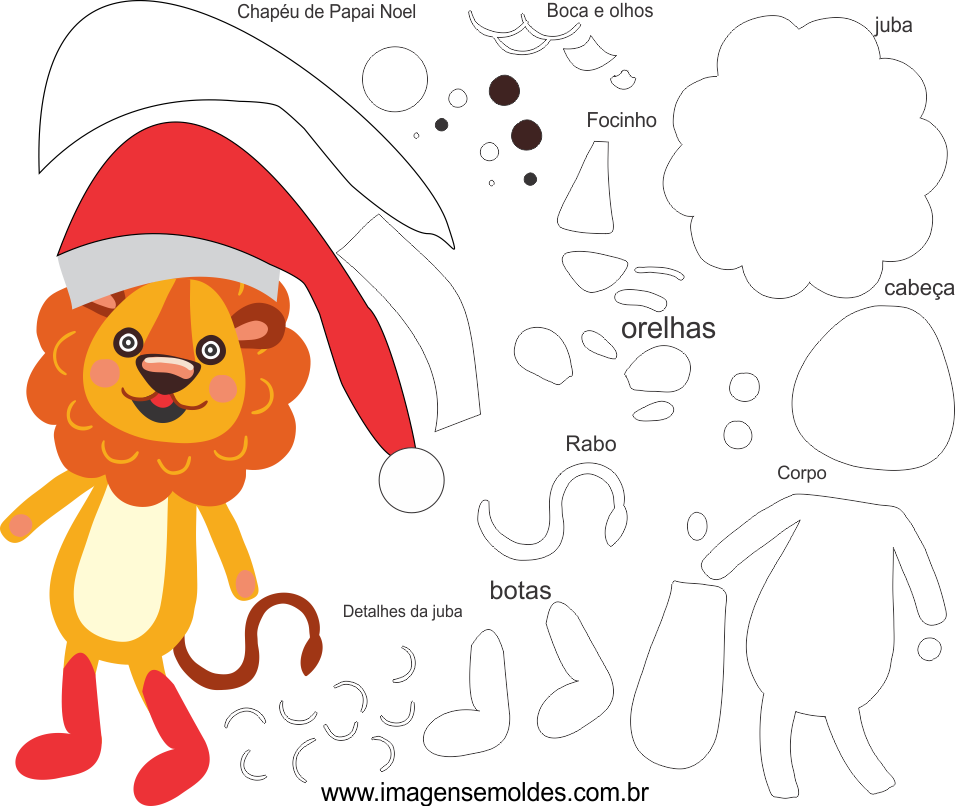 Molde De Natal Para Eva Feltro Pdf Com Download Gratuito