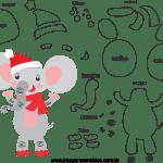 Molde de Natal Para E.V.A. Feltro e Artesanato – Bichinho 12