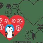 Molde de Natal Para E.V.A. Feltro e Artesanato – Coração 03