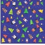 Papel Digital de Natal árvores e bichinhos