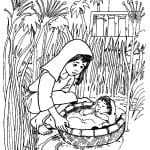 Desenhos Bíblicos para Colorir o Menino Moisés