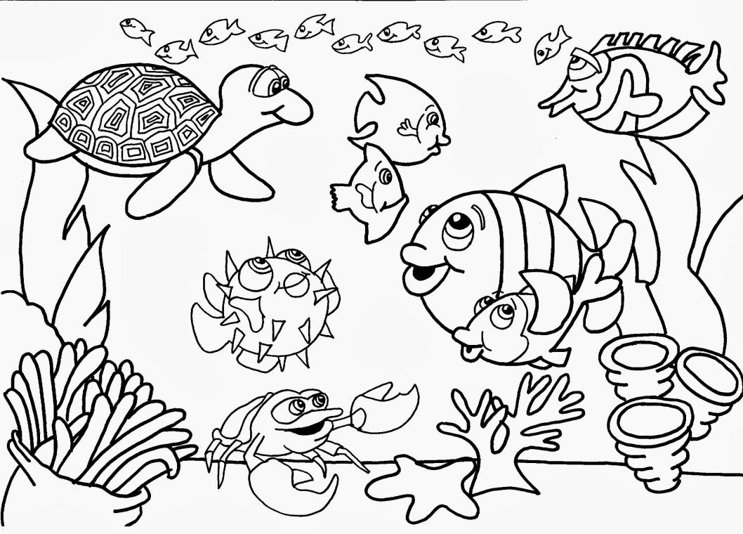 Desenhos Para Colorir Animais No Fundo Do Mar