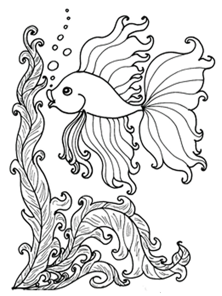 Desenhos Para Colorir De Peixe
