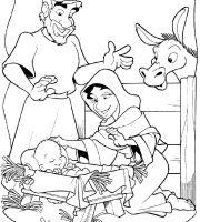 Desenhos Biblicos Para Colorir O Nascimento De Jesus