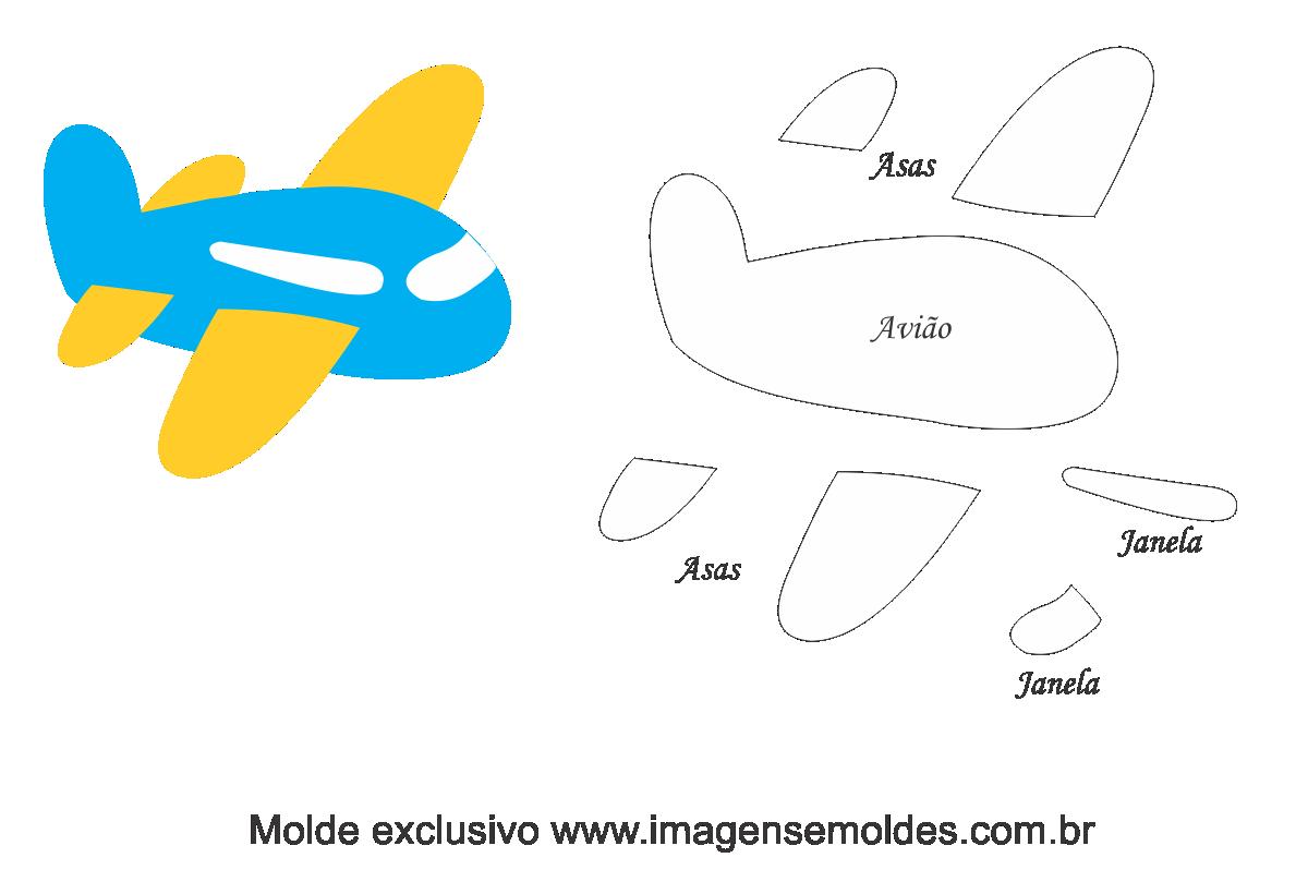 Moldes De Aviao Para Imprimir