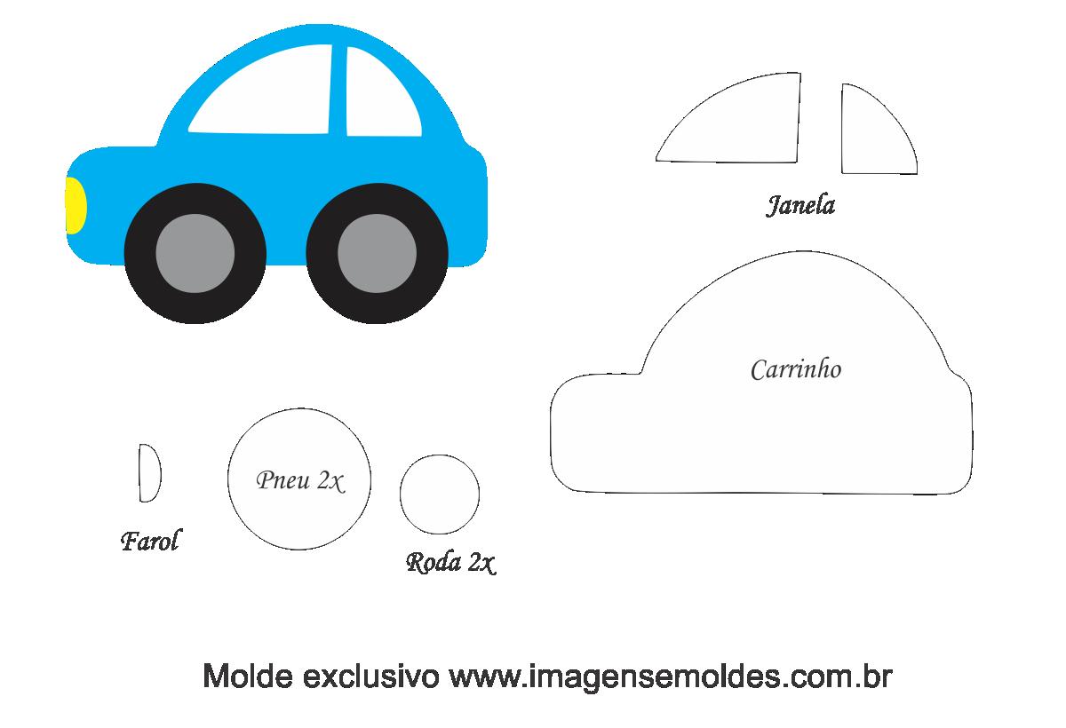 Molde Transportes Carro 1 Para Feltro Eva E Artesanato