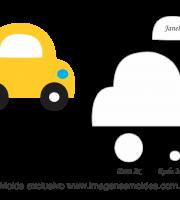 Molde Transportes - Fusca - Moldes de EVA - Feltro e Artesanato
