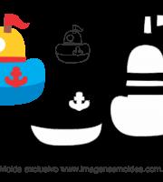 Molde Transportes - Navio - para EVA, Feltro e Artesanato