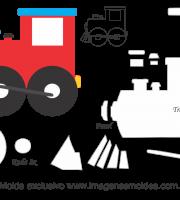 Molde Transportes - Trem 1 - para EVA, Feltro e Artesanato