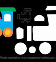 Molde Transportes - Trem 2 - para EVA, Feltro e Artesanato