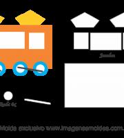 Molde Transportes - Vagão - Moldes de EVA, Feltro e Artesanato