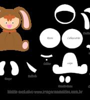 Molde de Animais Baby - Cachorrinho - para EVA, Feltro e Artesanato