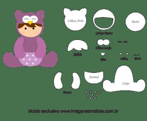 plantilla animal bebé búho, baby owl animal mold, Baby Eule Tier Schimmel