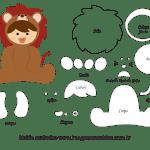 Molde de Animais Baby – Leão – para Feltro, EVA e Artesanato