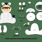 Molde de Animais Baby – Zebra – para Feltro, EVA e Artesanato