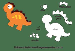Os Melhores Moldes De Dinossauro Para Feltro Eva E Artesanato Gratis