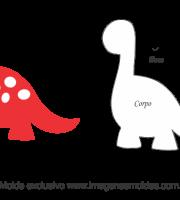 Molde de Bichinhos - Dinossauro 3 - para EVA - Feltro e Artesanato