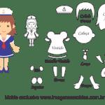 Molde de Marinheiro – Marinheira – para Feltro, EVA e Artesanato