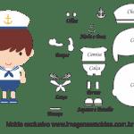 Molde de Marinheiro- Marinheiro – para Feltro, EVA e Artesanato