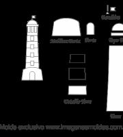 Molde de Marinheiro- Torre - para EVA, Feltro e Artesanato