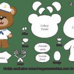 Molde de Marinheiro – Urso Marinheiro – para Feltro, EVA e Artesanato