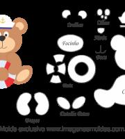 Molde de Marinheiro - Urso - para EVA, Feltro e Artesanato