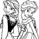 Desenhos para Colorir da Frozen – Elsa e Anna