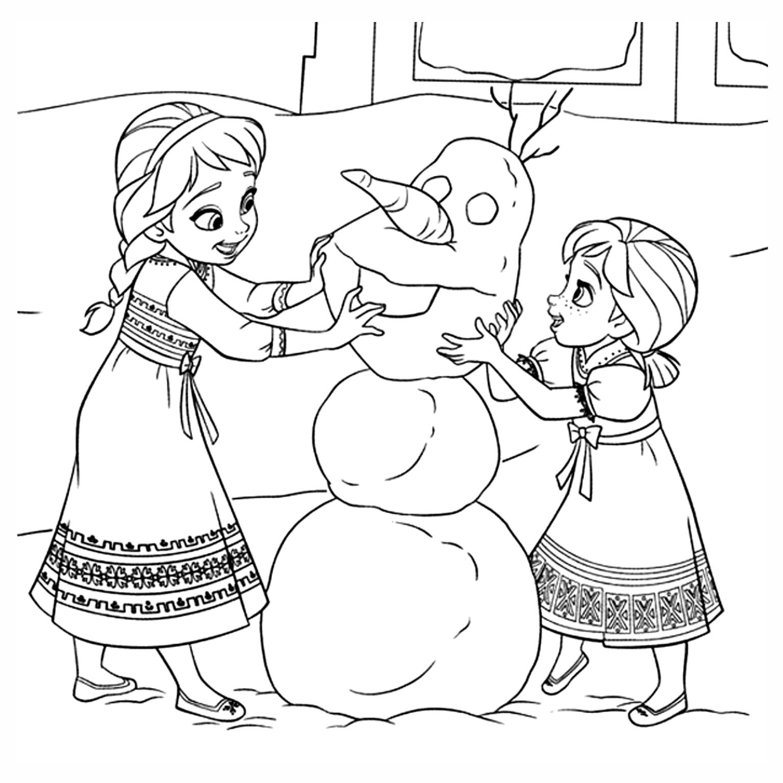 Desenhos Para Colorir Da Frozen E Anna