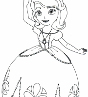 arquivos imagens para colorir da princesinha sofia