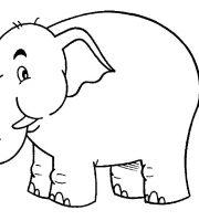 Arquivos Desenhos Para Pintar De Animais Elefante