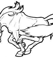 Arquivos Pdf Para Colorir De Animais Cavalos