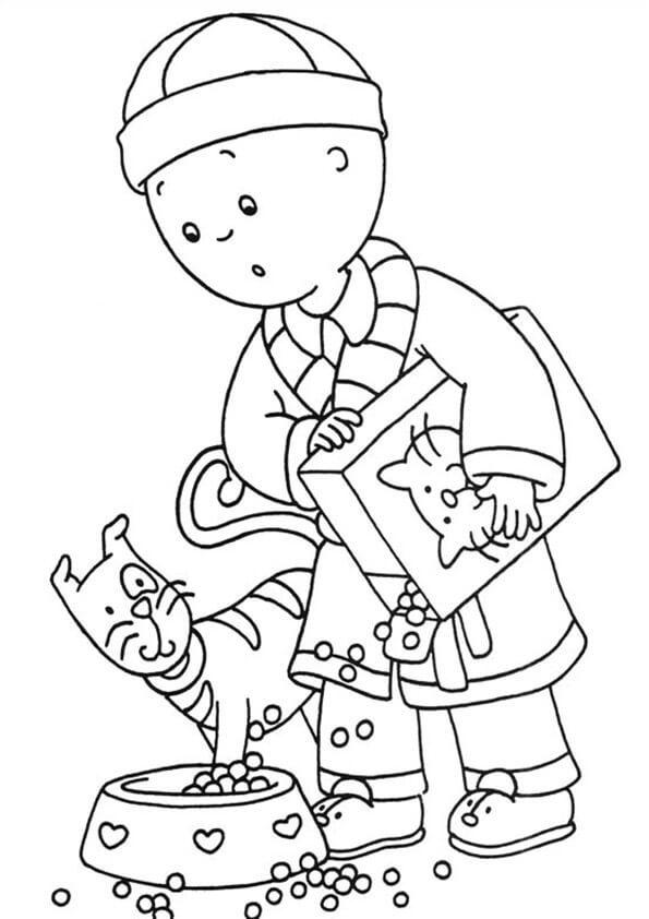 desenhos para colorir caillou