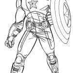 Desenhos para Colorir do Capitão América