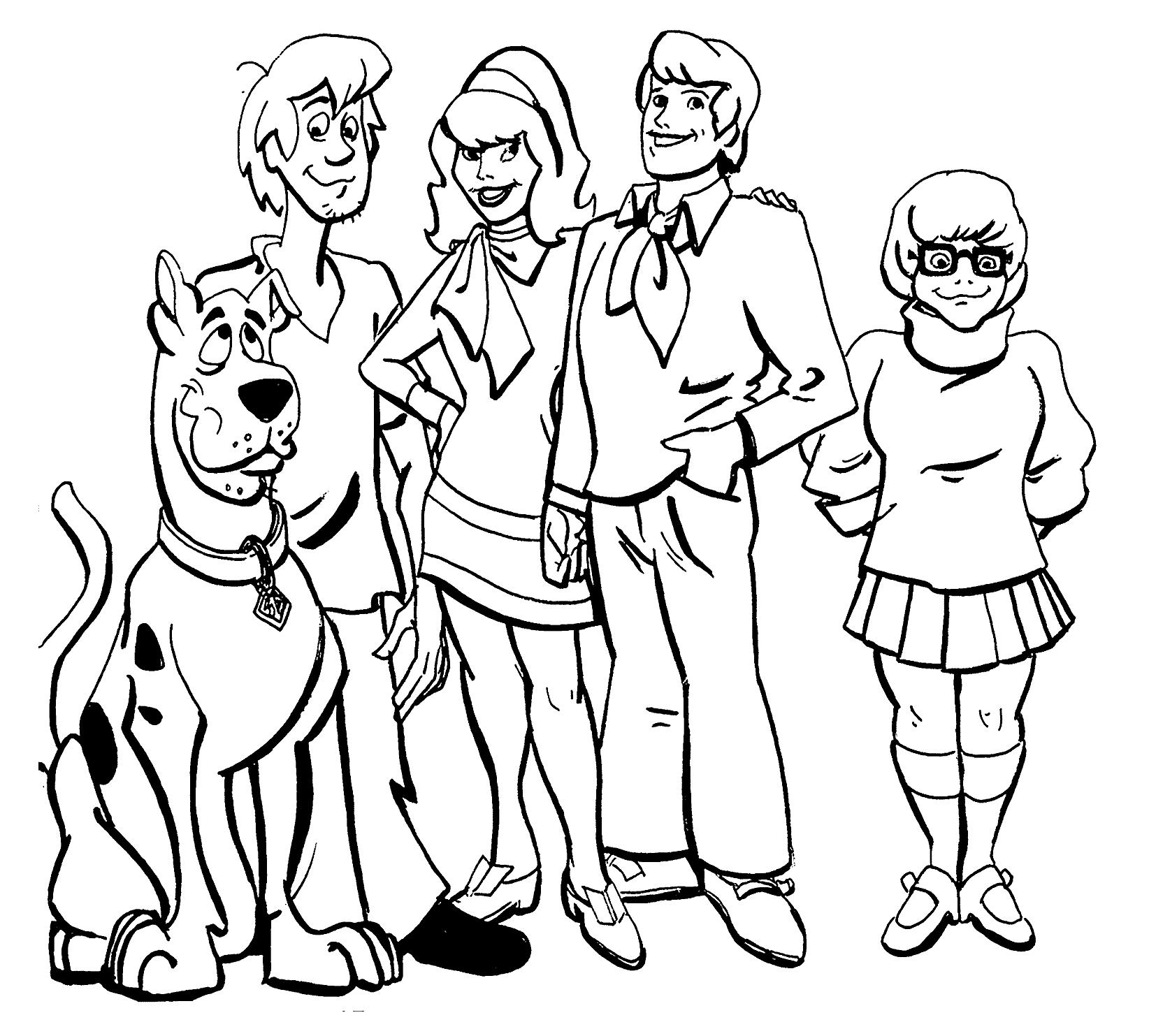 Desenhos Para Colorir Do Scooby Doo
