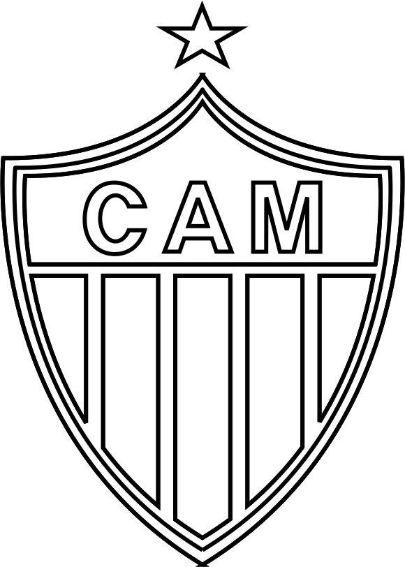 Emblema Do Atletico Mineiro De Belo Horizonte Mg Para Colorir 04