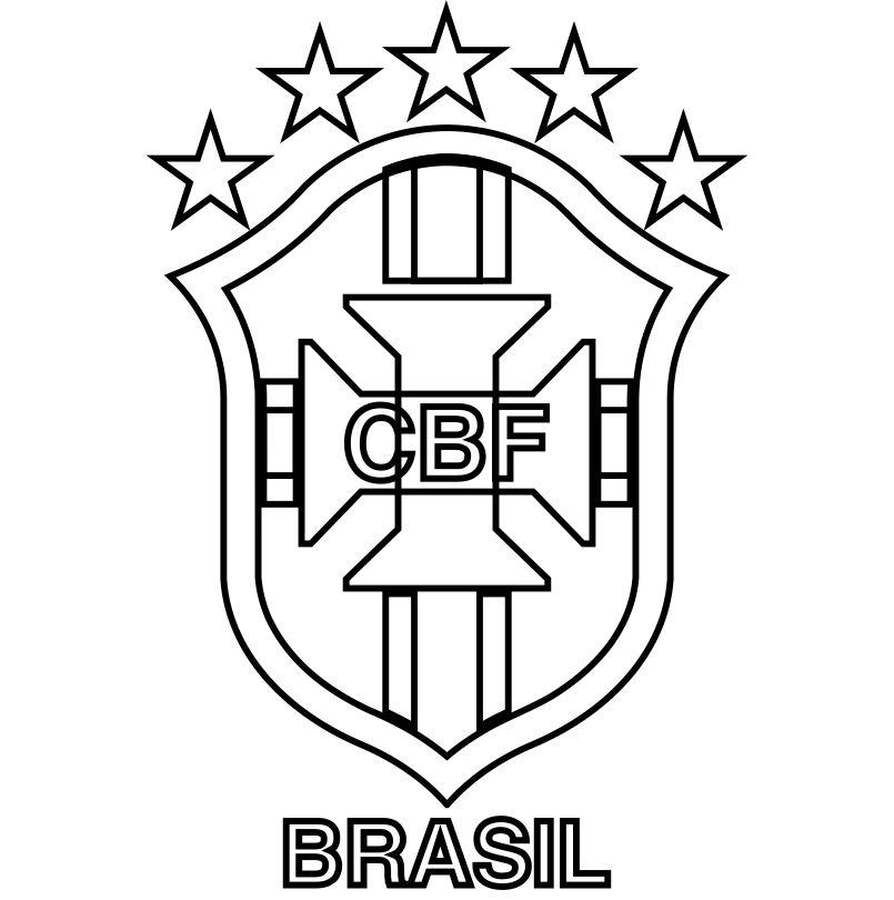 Emblema Do Brasil Para Colorir 01