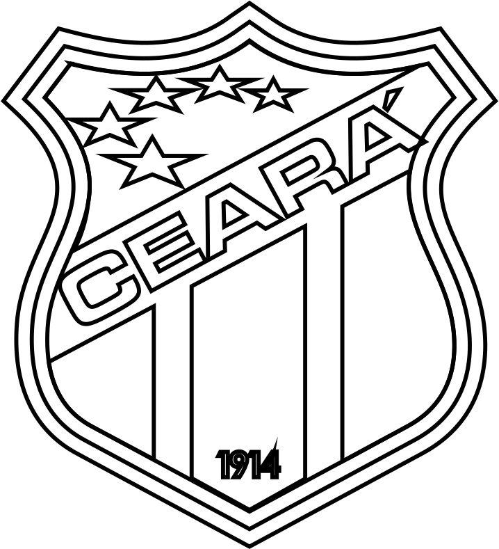 Emblema Do Ceará De Fortaleza Ce Para Colorir 08