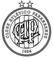 EMBLEMA DO CLUBE ATLÉTICO PARANAENSE DE CURITIBA-PR PARA COLORIR 05