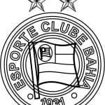 EMBLEMA DO ESPORTE CLUBE BAHIA PARA COLORIR  06