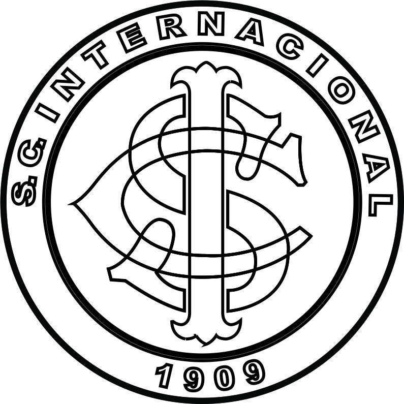 Emblema Do S C Internacional De Porto Alegre Rs Para Colorir 14
