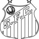 EMBLEMA DO SANTOS FUTEBOL CLUBE DE SANTOS-SP PARA COLORIR 17