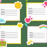 Etiquetas escolares Grátis para Imprimir 1